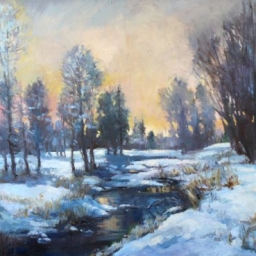 "Winter River ● 30"" x 40"" ● Oil ● SOLD"