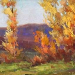 """Autumns Change ● 9"""" x 11 3/8"""" ● Oil ● $575"""