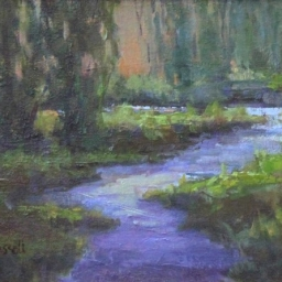 "Provo River Nightfall ● 9"" x 12"" ● Oil ● SOLD"