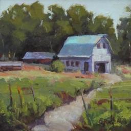"Huntsville Barn ● 12"" x 12"" ● Oil ● SOLD"