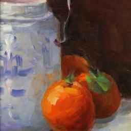 "Peach Roses ● 7"" x 10"" ● Oil ● SOLD"