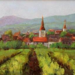 """Danube Village ● 12"""" x 16"""" ● Oil ● SOLD"""