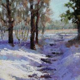 "Cottonwood Winter ● 14"" x 20"" ● Oil ● SOLD"