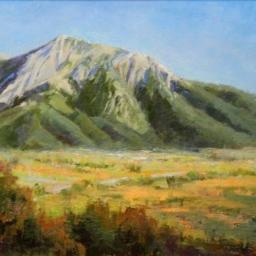 "Mount Olympus Five O'clock Shadow ● 16"" x 24"" ● Oil ● $1400"