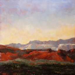 "Evening Over Snow Canyon I ● 16"" x 16"" ● Oil ● $950"