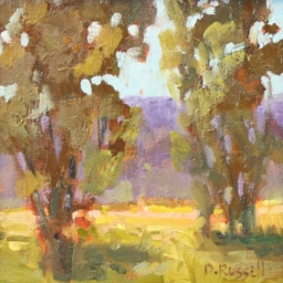 "Cottonwoods ● 8"" x 8"" ● Oil ● SOLD"
