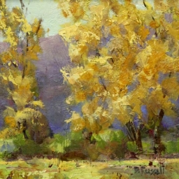 """Yellows ● 8 1/2"""" x 8 1/2"""" ● Oil ● SOLD"""