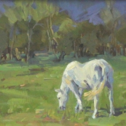 "Green Pastures ● 8 3/4"" x 10 3/4"" ● Oil ● SOLD"
