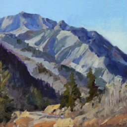 """Little Cottonwood Canyon ● 9"""" x 12"""" ● Oil ● SOLD"""