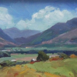 """Across the Valley ● 8"""" x 10"""" ● Oil ● SOLD"""
