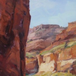 """Down the Grand ● 12"""" x 24"""" ● Oil ● SOLD"""