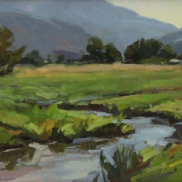 "Creek in the North Fields ● 9"" x 12"" ● Oil ● SOLD"