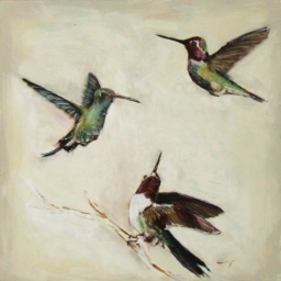 "Birds IV ● 10"" x 10"" ● Oil ● SOLD"