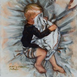 "Sleeping Child III ● 4"" x 4"" ● Oil ● $250"