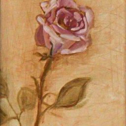 """Rose ● 5"""" x 7"""" ● Oil ● $250"""