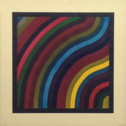 "Sol Lewitt (1928 - 2007) ● Two Centimeter Wavy Bands in Colors ● Paper 22 1/2"" x 22 1/2"" ● Image 17 1/2"" x 17 1/2"" ● Color Woodblock Print on Zangetsu Handmade Paper ● Edition 45 of 60 ● $3800"