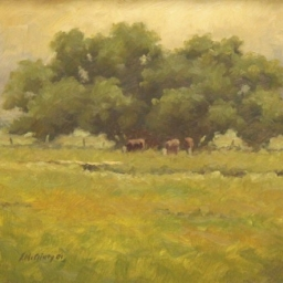 "Steve McGinty ● Grazing Trio ● 12"" x 16"" ● Oil ● SOLD"
