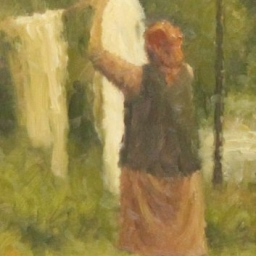 """Steve McGinty ● Hanging Wash ● 6"""" x 10"""" ● Oil ● SOLD"""