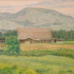 "LeConte Stewart ● Patterson Barn ● 7.5"" x 10"" ● Oil ● $1000"
