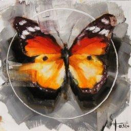 """Monarch ● 8"""" x 8"""" ● Oil ● SOLD"""