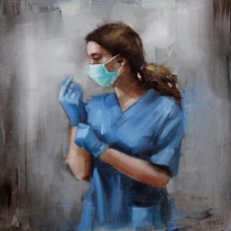 """Healthcare Hero II ● 10"""" x 10"""" ● Oil ● SOLD"""