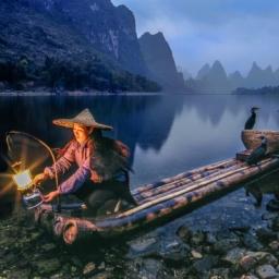 "Lantern Fishing ● 16"" x 24"" ● Photography ● SOLD"