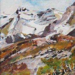 """The Glacier ● 8"""" x 10"""" ● Watercolor and Gouache ● $450"""