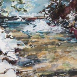 """Mountain Springs ● 8"""" x 10"""" ● Watercolor and Gouache ● $450"""