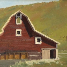 "Red Barn II ● 9"" x 12"" ● Oil ● $600"