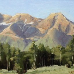 """View from Silver Lake ● 9"""" x 12"""" ● Oil ● SOLD"""