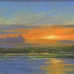 "Oak Island Sunset ● 6"" x 12"" ● Oil ● SOLD"