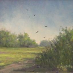 "Harrison's Pasture ● 6"" x 6"" ● Oil ● $225"