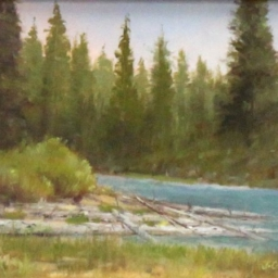 "String Lake Outlet ● 6"" x 8"" ● Oil ● $275"
