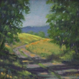 """Out of the Shadows ● 6"""" x 6"""" ● Oil ● SOLD"""