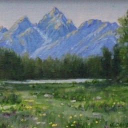 "Teton Morning ● 6"" x 8"" ● Oil ● SOLD"
