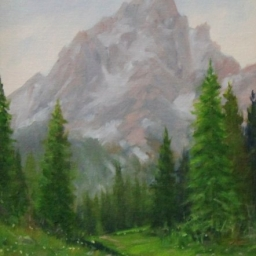 "Solitude & Majesty ● 9"" x 12"" ● Oil ● $495"