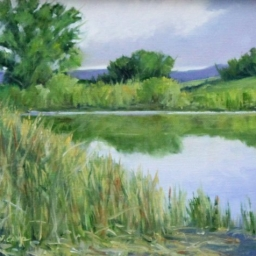 "Quiet Time at the Pond ● 8"" x 10"" ● Oil ● $375"