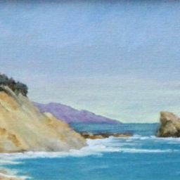 "Along the Coast ● 4 3/4"" x 8"" ● Oil ● SOLD"