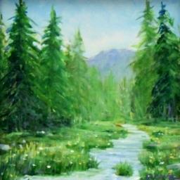 "Meadow Stream ● 6"" x 6"" ● Oil ● SOLD"
