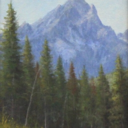 "Teton Morning ● 9"" x 12"" ● Oil ● $500"