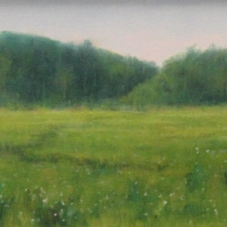 "Green Pastures ● 9"" x 12"" ● Oil ● $500"