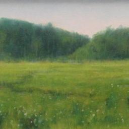 "Green Pastures ● 9"" x 12"" ● Oil ● $500"