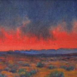 "Desert Drama ● 6"" x 12"" ● Oil ● SOLD"