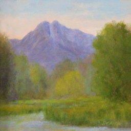 "Mt. Olympus Morning ● 6"" x 6"" ● Oil ● $250"