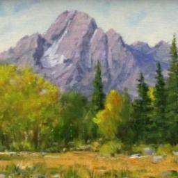 "Early Fall - Mt. Moraan ● 9"" x 12"" ● Oil ● SOLD"