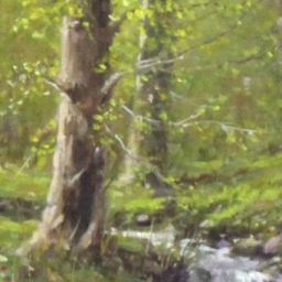 "Brookside Contemplation ● 6"" x 10"" ● Oil ● SOLD"