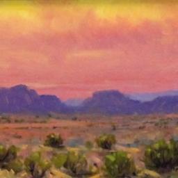 "Desert Brilliance ● 6"" x 8"" ● Oil ● SOLD"