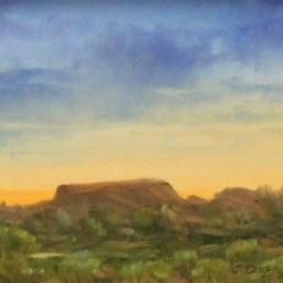 "Evening Sky ● 6"" x 8"" ● Oil ● SOLD"