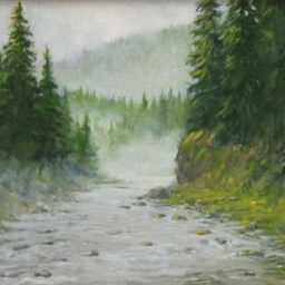 "Morning Mist ● 11"" x 14"" ● Oil ● SOLD"