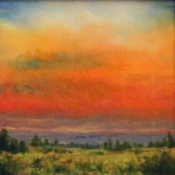 """Glory at Days End ● 6"""" x 6"""" ● Oil ● SOLD"""